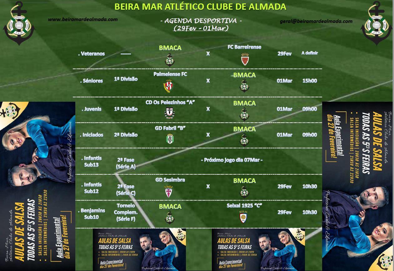 Beira Mar Agenda Desportiva 29 Fevereiro a 1 Março 2020